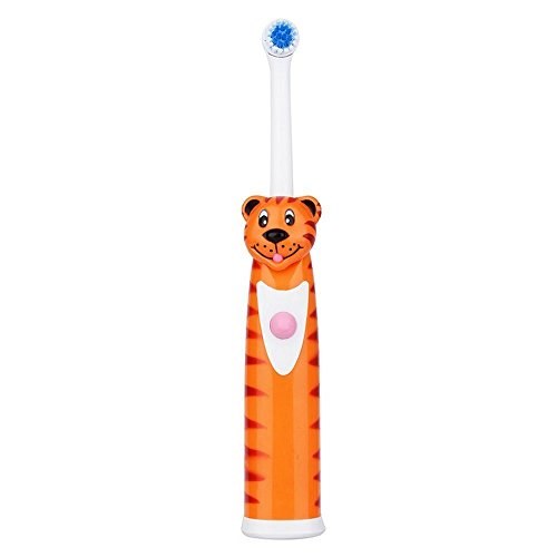 Ultrasonic Vibrating Electric Toothbrush Soft Bristle Silicone Professional Tooth Brush Mouth Clean Baby Oral Hygiene Waterproof (tiger) by Huagestroe