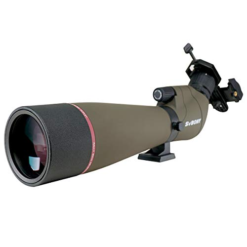 SVBONY SV13 Spotting Scope for Bird Watching Target Shooting Hunting IPX7 Waterproof Bak4 FMC Telescope with Phone Adapter(20-60x80mm Without Tripod) (Best Spotting Scope For Target Shooting)