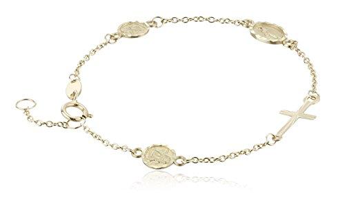 Girls Yellow Miraculous Medal Bracelet