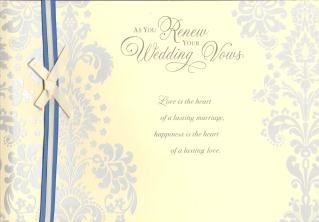 Renewal Of Wedding Vows Wedding Card Amazon Co Uk Kitchen Home