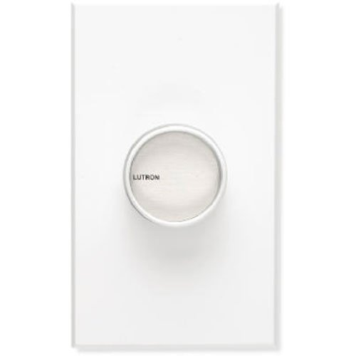 Lutron Electronics C-1000-WH Single Pole Commercial Grade Rotary Dimmer, 1000-watt, White
