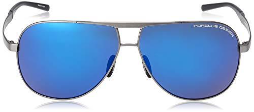 Porsche Design Titanium Sunglasses P8657 B Grey 62-11 - Unisex