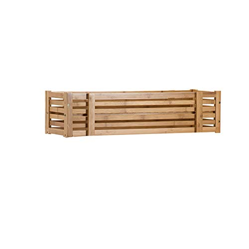 (CHENGXI Bamboo Flower Stand Solid Wood, Floor Flower Trough Shelf Simple Wall Hanging, Plant Pot Rack Balcony Indoor, Planter. (Size : Single))