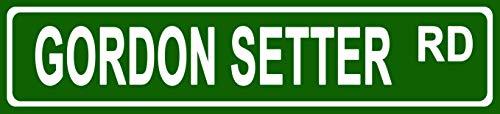 Makoroni - Gordon Setter Pets Dogs Novelty Street Sign Aluminum Metal 4x18 inc