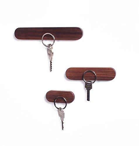 WaldenTheory Minimalistic Magnetic Wooden Key Holder, Fridge