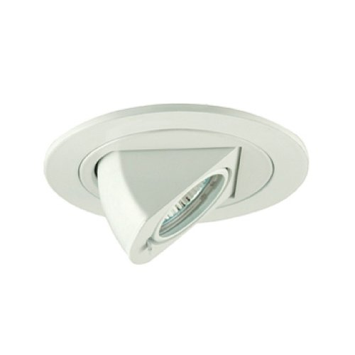 Jesco Lighting TM411WH 4-Inch Aperture Low Voltage Trim Recessed Light, Adjustable Periscope, White Finish