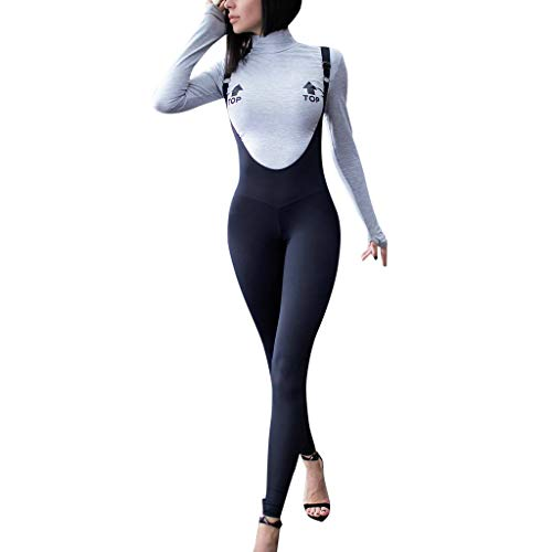 Womens Spaghetti Strap Bodycon Tank One Piece Jumpsuits Rompers Playsuit Sexy Sling Live Button Slim Bodysuit Black