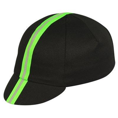 Pace Sportswear Traditional Reflective Cap, Black/Neon Green