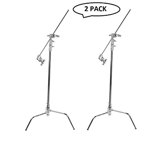 Impact Turtle Base C-Stand Kit - 10.75' (Chrome)(2 Pack) by Impact