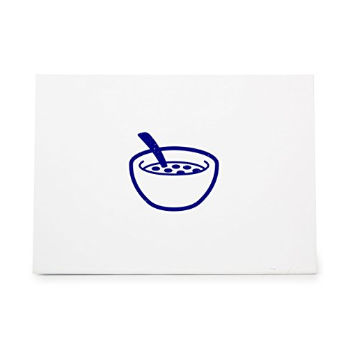 Cereal Bowl Breakfast Food Grain Style 8153, Rubber Stamp Shape great for Scrapbooking, Crafts, Card Making, Ink Stamping Crafts