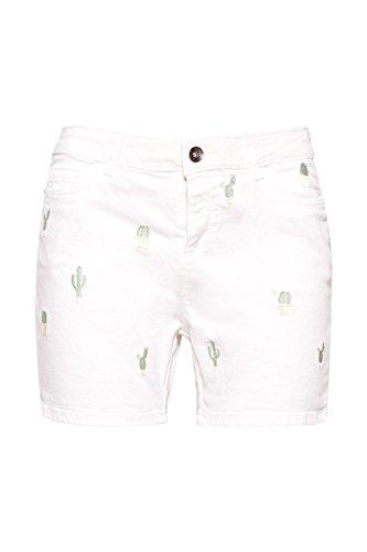 white 100 Multicolore Esprit Pantaloncini Donna qw6nt