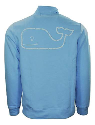 (Vineyard Vines Mens Dutch Blue Graphic 1/4 Zip Vintage Whale Pullover Size S )