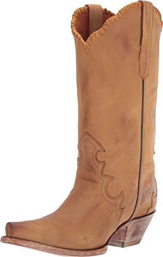 "Dan Post Western Boots Womens Denise 12"" Shaft 6 M Camel DP3779"