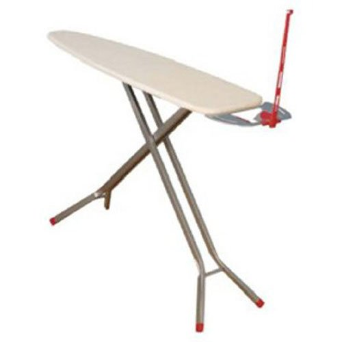 Household Essentials Deluxe Rectangle Four Leg Ironing Board in Satin Silver ()
