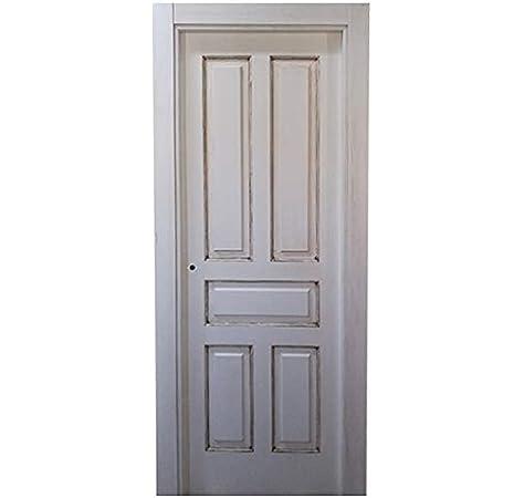 Block puerta de interior teñida color + acabado al agua para exteriores mate o satinado. Batiente de 90x20 + tapeta lisa de 220x90x10 / 0.8. Herrajes color Inox/Latón/Negro/Cuero (manilla incluida).: Amazon.es: Bricolaje