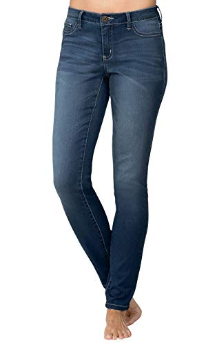 Addison Meadow Stretch Jeans for Women - Womens Jeans, Dark Blue, L, 12-14