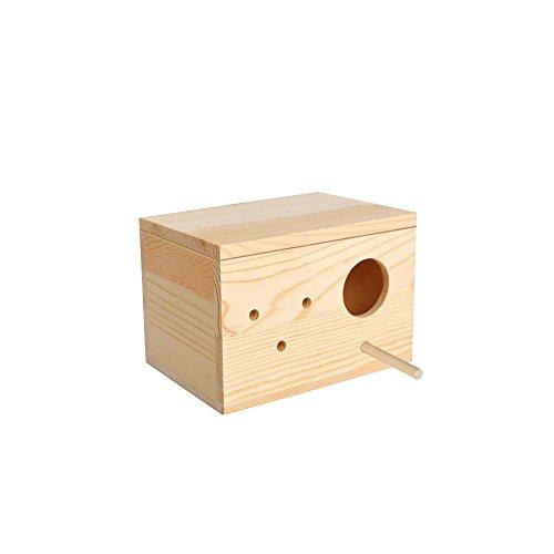 "Budgie bird and Love bird breeding nest wooden box, 8"" wi..."