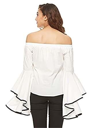 Reflex Crop Top For Women - White