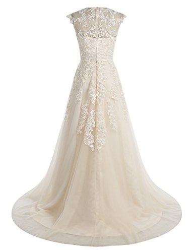 Wedding Appliques Prom Long Sleeves Lace Cap Darkred Gown Dress Women's BeryLove n6YIx