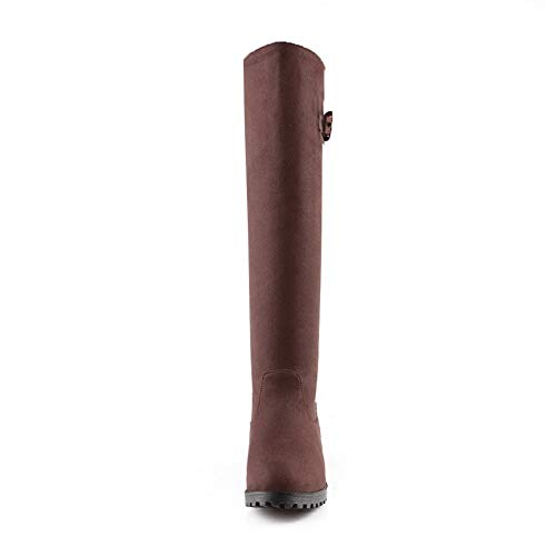 Balamasa Femme Confort Plate En Uréthane Abl10745 Marron Bottes forme Solide Pour RRqPrwx7B