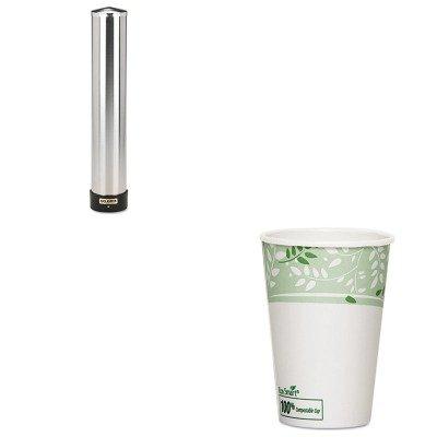 KITDXE2346PLASJMC3400P - Value Kit - Dixie EcoSmart Hot Cups (DXE2346PLA) and San Jamar Large Water Cup Dispenser w/Removable Cap (SJMC3400P) by Dixie