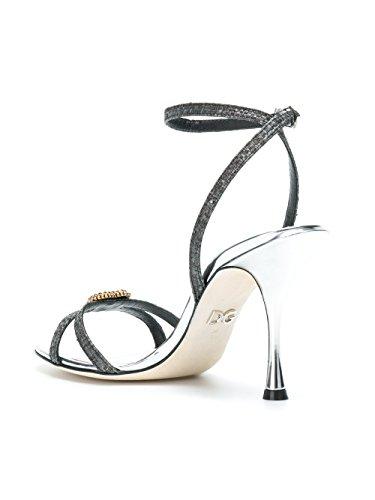 Dolce E Gabbana Kvinder Cr0552an7808b979 Sølv / Sort Bomuld Sandaler KLaAve