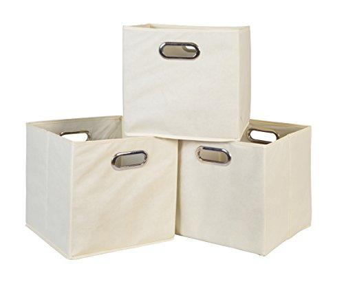 File Cube (Set of 3 Cubo Foldable Fabric Bins-)