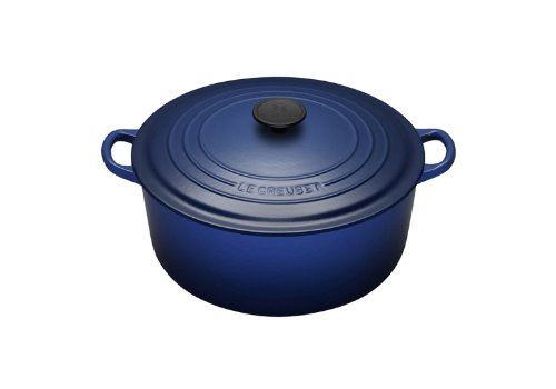 Enameled Cast-Iron 2-Quart Round French Oven, Cobalt Blue