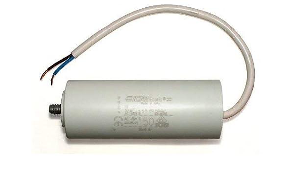 condensador de arranque condensador para motor con cable 50uF 50µF ...