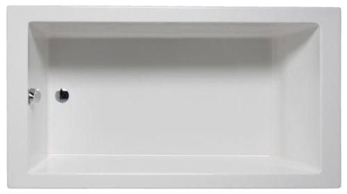 66 Inch Tub (Malibu Home MHVN6632S01 Venice Rectangular Soaking Bathtub, 66-Inch by 32-Inch by 22-Inch, White)