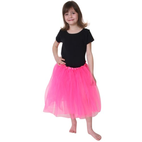 [Hot Pink Tutu 16 Inch] (Hot Costumes For Teens)