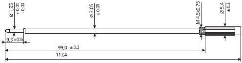 confezione da 4. Starminen AG inchiostro nero C1/Starrefill croce per penna a sfera