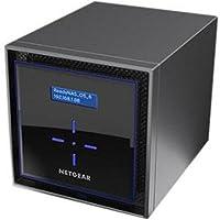 NETGEAR ReadyNAS RN424D6 4 Bay 24TB Desktop High Performance NAS, 40TB Capacity, Intel 1.5GHz Dual Core Processor, 2GB RAM, RN424D6-100NES