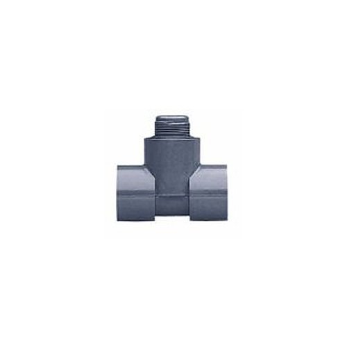 """GF Signet PV8T025 PVC Clamp-On Saddle with Pipe, 2.5"""""""