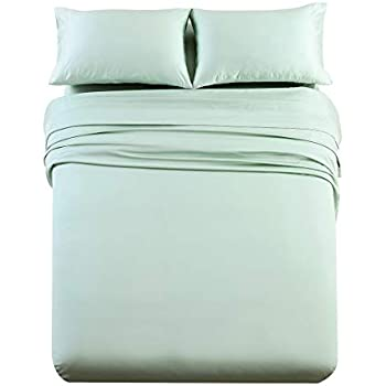 Abripedic Solid 600-Thread-Count, 100-Percent Tencel Lyocell, 4PC Split Top-King Sheets Set for Adjustable Beds, Sea