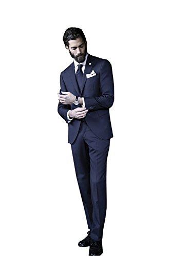 Cheap Kelaixiang Men's 2-Piece Suit Single Breasted Slim Fit Dress Suit Jackets & Trousers