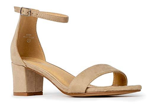 J. Adams Daisy Mid Heel Sandal Nude 7 B(M) US ()