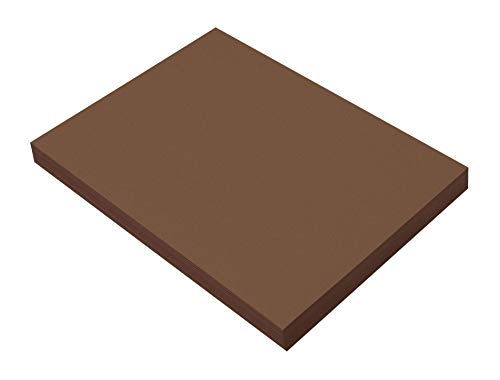 SunWorks Construction Paper, Dark Brown,  9