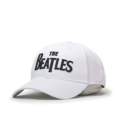 The Beatles Classic Adjustable Baseball Cap Drop T Logo Sgt Pepper Drum Abbey Road (Black Drop T White)