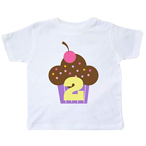 inktastic - 2nd Birthday Cupcake Girls Cute Toddler T-Shirt 5/6 White 11531
