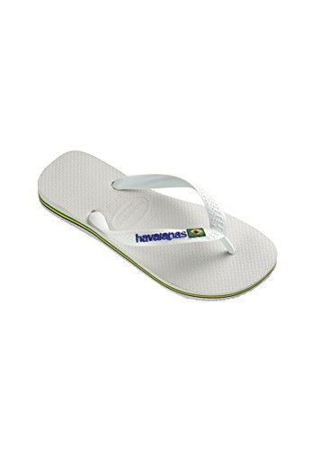 Havaianas Brasil Logo Sandals Uk 8 Bianco