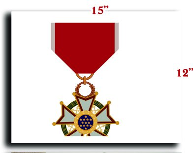 US Army Medal Armed Forces Legion of Merit Medal Neck Order CANVAS art print framed stretched 15