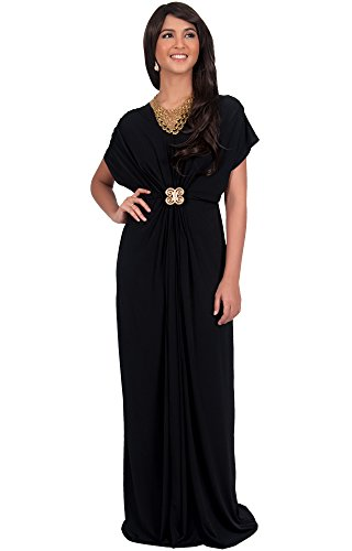 black bridesmaid dress with short sleeves - 4