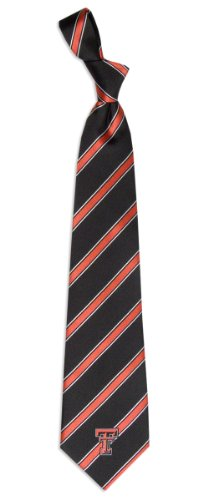 Texas Tech Red Raiders NCAA College Sports Striped Mens Neck Tie