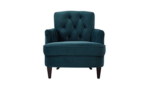 Jennifer Taylor Home 63170-1-867 Kelly Accent Chair, Satin Teal