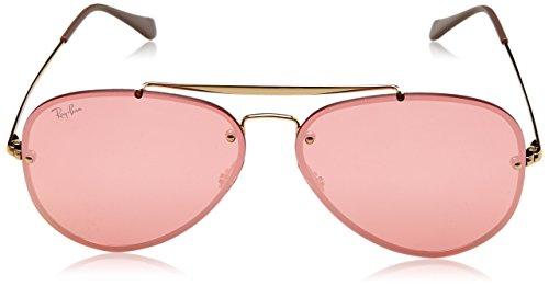 Amazon.com  Ray-Ban RB3584N 9052E4 Non-Polarized Sunglasses, Gold Pink  Mirror 61mm  Clothing bde579357790