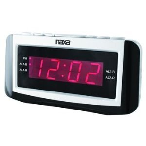 Naxa Naxa Pll Digital Alarm Clock With Am/fm Radio, Snooze & Large Led Display by Naxa Electronics
