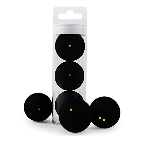 THIBETA Sports Squash Ball Cartridge Squash Single Blue Dot Yellow Dot Double Yellow Dot - 3PACK