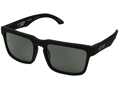 Spy Helm Sunglasses Matte Black w/ Grey Green Polarized Lens + - Spy Helm Glasses