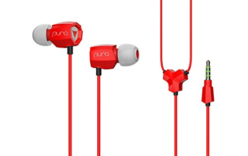 Puro Sound Labs IEM200 in-Ear Earphones Kids Headphones Comfortable School Student Earbuds with Volume Limiting, Noise Isolation, Microphone, 3.5 mm Cable - IEM200 Red